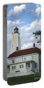 Sandy Hook Lighthouse And Building Portable Battery Charger