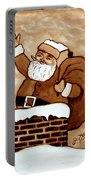 Santa Claus Gifts Original Coffee Painting Portable Battery Charger