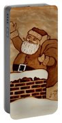 Santa Claus Is Coming Portable Battery Charger by Georgeta  Blanaru