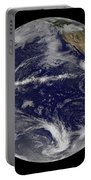 Satellite Image Of Earth Centered Portable Battery Charger by Stocktrek Images