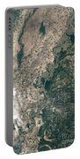 Satellite Image Of Flood Waters Portable Battery Charger