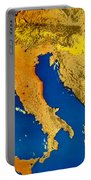 Satellite Image Of Italy Portable Battery Charger