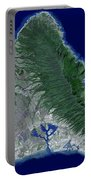 Satellite Image Of Oahu, Hawaii Portable Battery Charger