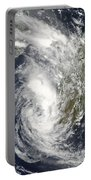 Satellite View Of Cyclone Giovanna Portable Battery Charger