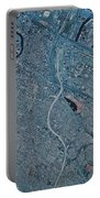Satellite View Of Newark, New Jersey Portable Battery Charger