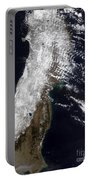 Satellite View Of Northeast Japan Portable Battery Charger by Stocktrek Images