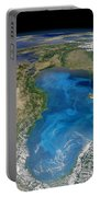Satellite View Of Swirling Blue Portable Battery Charger