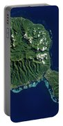 Satellite View Of Tahiti Portable Battery Charger