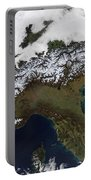 Satellite View Of The Alps Portable Battery Charger