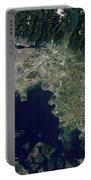 Satellite View Of The Frasier River Portable Battery Charger