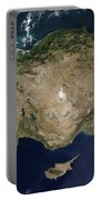 Satellite View Of Turkey And The Island Portable Battery Charger