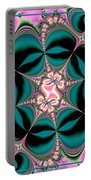 Satin Flowers And Butterflies Fractal 122 Portable Battery Charger