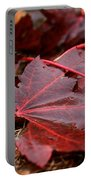 Saturated Maroon Portable Battery Charger
