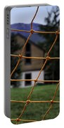 Scene Through A Volley Ball Court 2 Portable Battery Charger