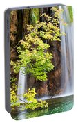 Scenic Waterfall In Autumn Portable Battery Charger
