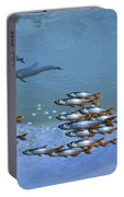 Schools Of Fish Swim In The Blue Ocean Portable Battery Charger