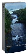 Scripture And Picture Psalm 24 2 Portable Battery Charger