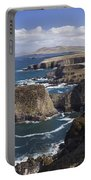 Sea Cliffs And Coastline Near Erris Portable Battery Charger