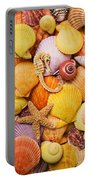 Sea Horse Starfish And Seashells  Portable Battery Charger