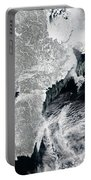 Sea Ice Lines The Coasts Of Sweden Portable Battery Charger