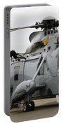 Sea King Helicopter Of The Royal Navy Portable Battery Charger by Luc De Jaeger
