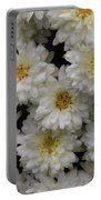 Sea Of White Flowers Portable Battery Charger
