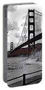 Sea Spray Under The Golden Gate Bridge Portable Battery Charger