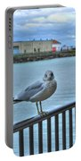 Seagull At Lighthouse Portable Battery Charger
