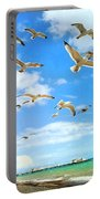 Seagulls At Worthing Sussex Portable Battery Charger