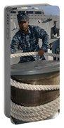 Seaman Runs A Mooring Line Portable Battery Charger