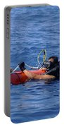 Search And Rescue Swimmers Retrieve Portable Battery Charger