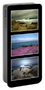 Seascape Triptych Portable Battery Charger