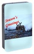 Seasons Greetings Deer Portable Battery Charger
