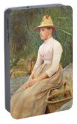 Seated Lady Portable Battery Charger