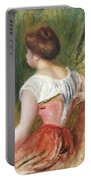 Seated Young Woman Portable Battery Charger by Pierre Auguste Renoir