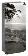Sentinels View Of The Ocean Black And White Portable Battery Charger