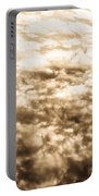 Sepia Clouds  Portable Battery Charger