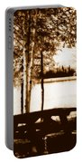 Sepia Picnic Table Lll Portable Battery Charger