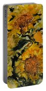 September Sunflowers Portable Battery Charger