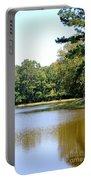 Serene Lake In September Portable Battery Charger
