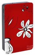 Serenity In Red Portable Battery Charger