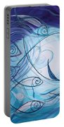 Seven Ichthus And A Heart Portable Battery Charger by J Vincent Scarpace