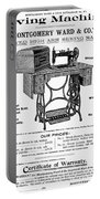 Sewing Machine Ad, 1895 Portable Battery Charger