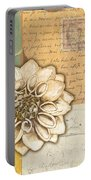 Shabby Chic Floral 1 Portable Battery Charger by Debbie DeWitt