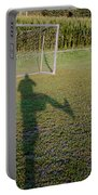 Shadow From A Football Player Portable Battery Charger
