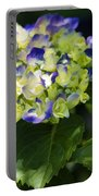 Shadowy Purple And White Emerging Hydrangea Portable Battery Charger