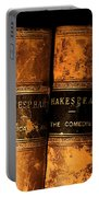 Shakespeare Leather Bound Books Portable Battery Charger