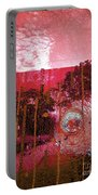 Abstract Shattered Glass Red Portable Battery Charger