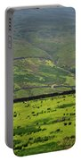 Sheep Graze In A Pasture In Swaledale Portable Battery Charger