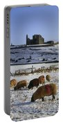 Sheep On A Snow Covered Landscape In Portable Battery Charger